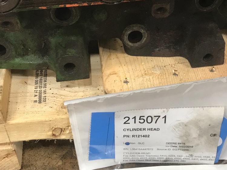 R121402 - John Deere 6415 Cylinder Head   Bootheel Tractor Parts